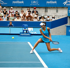 Ana Ivanovic - the backhand (sub_lime79) Tags: motion sport action tennis wta ivanovic anaivanovic d40 medibankinternational