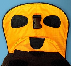 Crumpler face (Digger Digger Dogstar) Tags: camera orange face bag pareidolia foundfaces faces batch 4 velcro facialimpressions hiddenfaces accidentalfaces faceit switchface iseefaces inanimatefaces abstractfaces letsfaceit ispyaface friendsofmrperlatore facesoneverydayobjects thingsthatlooklikesmileyfaces