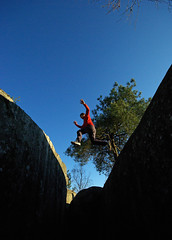 jump (max zambon) Tags: sky forest jump perfect rocks photographer fontainebleau bleau the supershot franchard