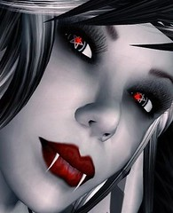 red eyes (Jen Carroll (LunaRose Graves)) Tags: crimson blood vampire gothic goth luna pale haunted sl secondlife pentagram moonlight fangs vampires vamp wiccan virtualworlds slvampires secondlifevampires flickeritesofsecondlife lunarose lunarosegraves
