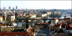 Prague (xochetsya) Tags: bridge sun river sad prague walk czechrepublic charlesbridge vltava