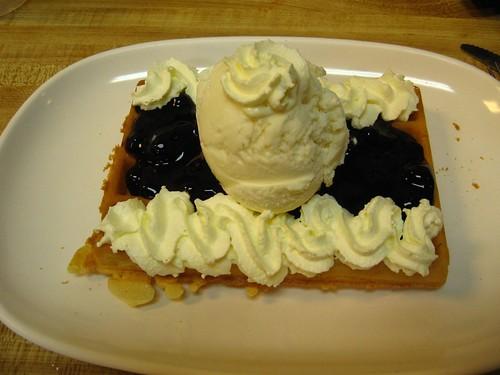 Waffle Ala Mode w/ Blueberry