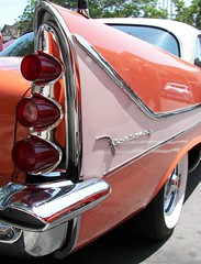 '58 Firesweep Fin (Dusty_73) Tags: auto detail classic car vintage chrome 1958 chrysler mopar fin desoto taillights kingsburg firesweep defins