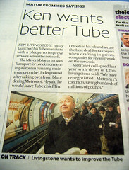 Ken wants better Tube