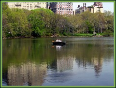 CPW reflection (ArtJoy4Ever) Tags: lake newyork green terrace manhattan canoe boathouse bethesda thepark springtime themall bowbridge thelake centralparkwest 72ndst angelofthewaters bathesda centrtalpark mallfountain