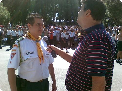 Meu irmão, Alexandre Gomes, em entrevista do evento