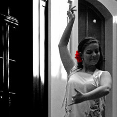 Flamenco  0155b (Lieven SOETE) Tags: red brussels party people woman roma girl female donna dance movement mujer fiesta danci