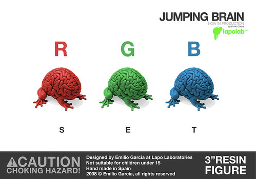 Jumping Brain RGB SET by Emilio Garcia