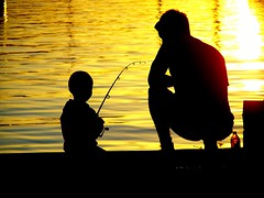 Learning (pominoz) Tags: boy sunset lake man silhouette newcastle big fishing father son valentine nsw thumbsup momma lakemacquarie bigmomma mywinners anawesomeshot thechallengegame challengegamewinner thechallengefactory herowinner