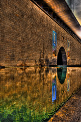 Always look on the Warm side of life (medically_irrelevant) Tags: life orange reflection water yellow nikon warm gallery arch side perspective australia melbourne victoria national hdr recede linear ngv d300 colourartaward