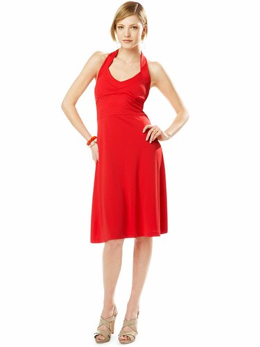 What I Wore 2Day: Mail Bag: Red Halter Dress at Work?