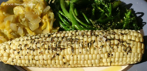 Oven Roasted Corn on the Cob with Thyme