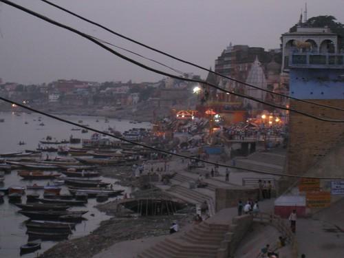 Varanasi's ghats at sunset