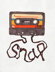 7.01.08 - Snap (invisibleElement) Tags: color typography sketch snap tape type marker sharpie cassette invisibleelement sketchaday