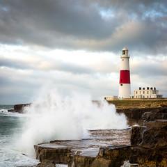 Portland Bill (lynnpeck1) Tags: portlandbill lighthouse sea coastline waves crashingwaves