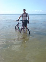Riding at low tide (photo by Nick Sayers).