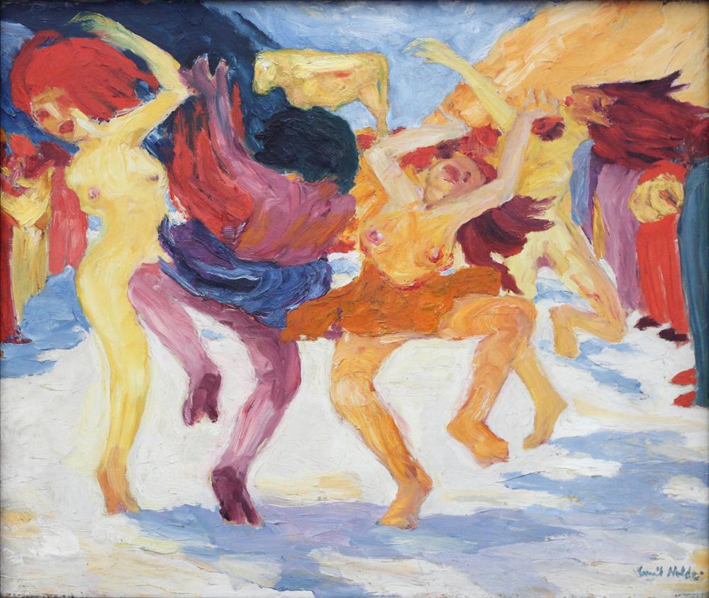 Emil Nolde, Tanz um das Goldene Kalb [Dance around the Golden calf], 1910