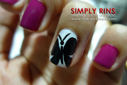 Nail Art Butterfly and Flowers 02