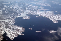 Labrador Coastline (zeesstof) Tags: snow canada islands labrador aerial coastline tablebay windowseatplease cartwright canon7d canon18135is zeesstof huntingdonisland earlsisland