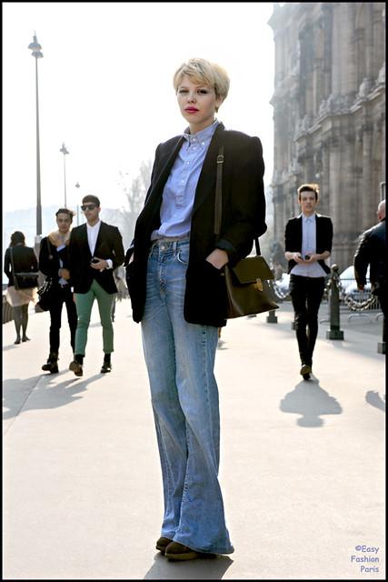 Wide leg jeans x Blazer