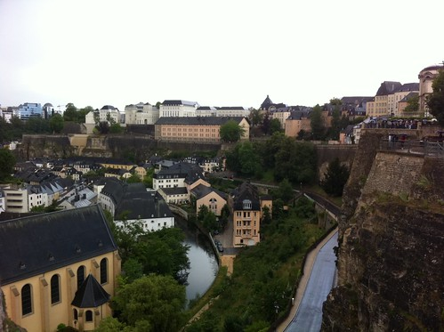 Sightseeing in Luxembourg with my dad, there is fast free wifi all over the city center!