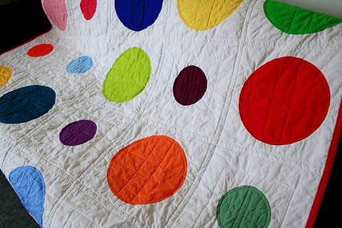 color dotty quilting