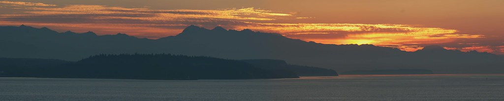 Sunset over the Olympic Mountains