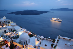 Santorini, Greece (konstantinople) Tags: travel beautiful island greek volcano evening paradise ship hellas santorini greece cruiseship 300views nightlife traveling 5000 800views thira 600views 700views 1000views cuise 5000views iwanttogoback 6000views 7000views 9000views volcanoisland aplusphoto almost200views almostat1k