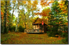 Little Cabin in the woods... (nature55) Tags: autumn nature wisconsin forest cabin woods searchthebest upnorth soe amazingtalent nature55 mywinners impressedbeauty blueribbonphotography