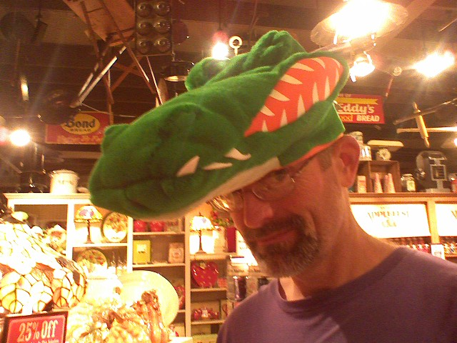 It's a toothy hat, but not houndstoothy