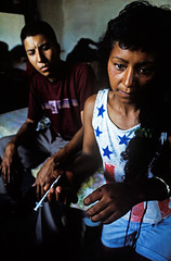 Mexican Heroin 01 (mexadrian) Tags: mexico high documentary needle syringe drug heroin smack starsandstripes coahuila drugculture sanpedrodelascolonias