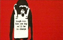 BanksyLaughnow