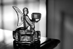 Rita's Angel (disneymike) Tags: california blackandwhite glass angel nikon riverside bokeh rita d2x nikkor candleholder 50mmf14d lovethispic auntrita diamondclassphotographer flickrdiamond