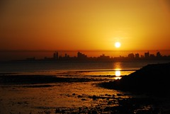 """""""AMAL"""" is Arabic for Hope, that's what I feel when I look at this photo... (radiant guy) Tags: silhouette contrast sunrise dawn dramatic kuwait"""