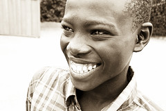 Black smiling kid