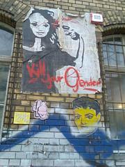 Kill your Gender (Michelle Foocault) Tags: wallpaper streetart berlin grafitti gender fhain