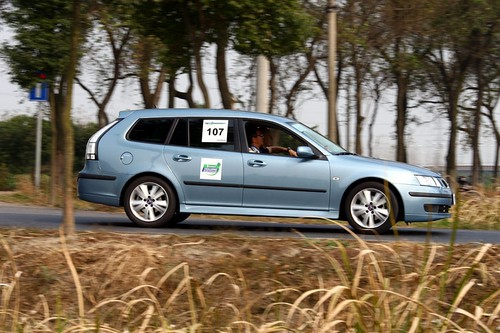 Saab 9-3 competes at 2007 Michelin Challenge Bibendum in Shanghai
