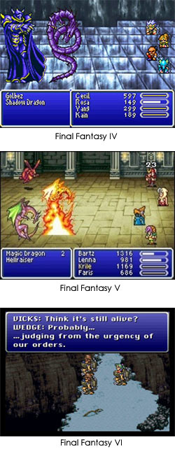 Final Fantasy IV, V, and VI Screenshots