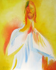 The Lord Jesus - Easter Day 2001 by Stephen B Whatley (Stephen B Whatley) Tags: portrait art love painting easter artist peace christ god faith prayer religion jesus belief icon lord christian trust expressionism spiritual mercy jesuschrist lordjesus stephenbwhatley