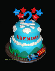 Brendans train cake 2nd birthday