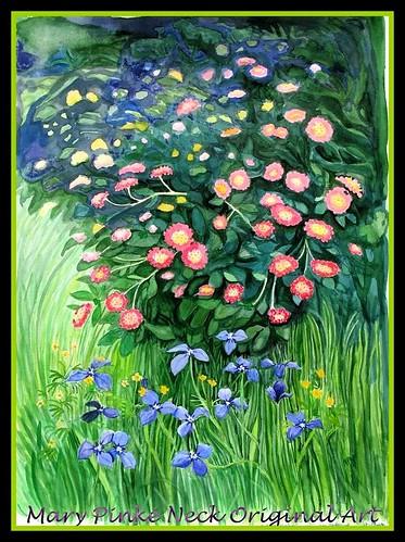 Lantana & Herbertia Watercolor