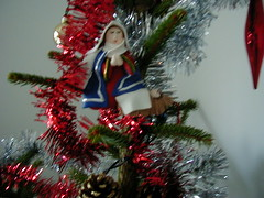 Christmas tree decorations - Mary and Jesus