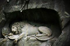 Defeat (bekahpaige) Tags: monument statue switzerland hurt war europe swiss wounded lion kay luzern lucerne ricky defeated lwendenkmal lionmonument 10faves bertelthorvaldsen abigfave anawesomeshot aplusphoto platinumheartaward