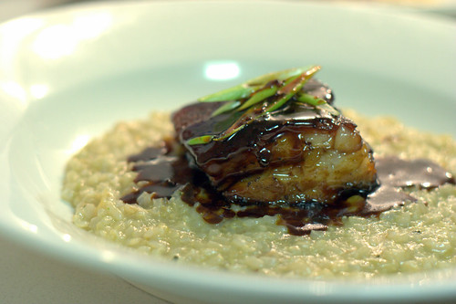 pork belly with scallop congee