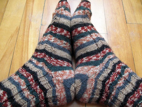 Chevron Socks - Forethought Heel