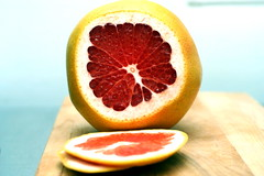 grapefruit peels, step 1