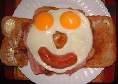 Good Morning ( Bo ) Tags: food mushroom smile face breakfast mouth fun nose happy bacon yummy beans eyes toast egg joy plate ears sasusage photofaceoffwinner platinumheartaward clevercreativecaptures