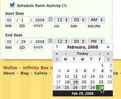 Form Scheduling