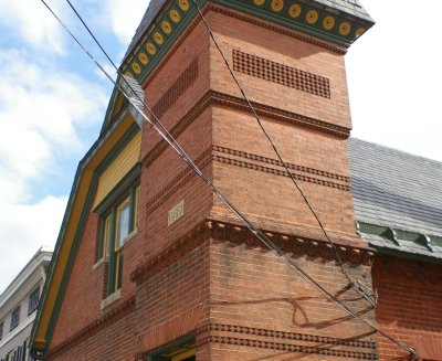 Beautiful brick building (detail)