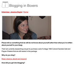 Blogging in Boxers Interview